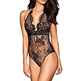 COOKI Women Lingerie Sexy Set Sexy Lingerie Floral Eyelash Lace Babydoll Nightwear Chemise Teddy Underwear Plus Size