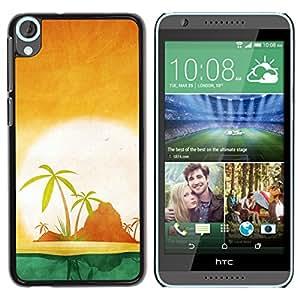 "QCASE / HTC Desire 820 / soleil"" / Delgado Negro Plástico caso cubierta Shell Armor Funda Case Cover"