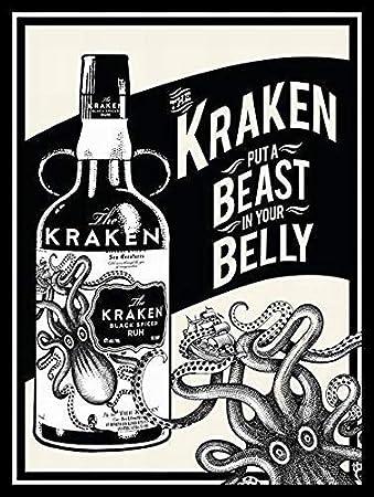 Froy Kraken Rum Cartel de Chapa de Pared Cartel de Hierro ...