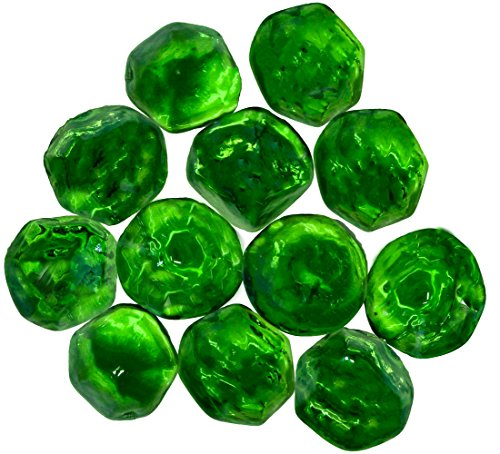 Jewel Craft Glass (Distinctive Glass Jewels for Vase Filler, Table Scatter or other Beautiful Accents (2.2 Pounds, Shimmering Green))