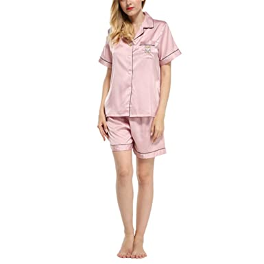 Pratnd Young Girl Cute Bear Patchwork Women Pijamas Set Sweet Twinest Sleepwear Luxury Homewear Clothes Pink