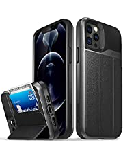 Vena iPhone 12 / iPhone 12 Pro Wallet Case, vCommute (Military Grade Drop Protection) Flip Leather Cover Card Slot Holder with Kickstand Designed for Apple iPhone 12/12 Pro (6.1-inch) - Space Gray