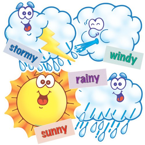 Scholastic TF3277 Weather Accent Punch-Outs