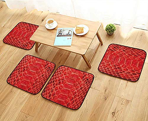- Jiahonghome Modern Chair Cushions Red Python Leather,Skin Texture for Background Convenient Safety and Hygiene W23.5 x L23.5/4PCS Set