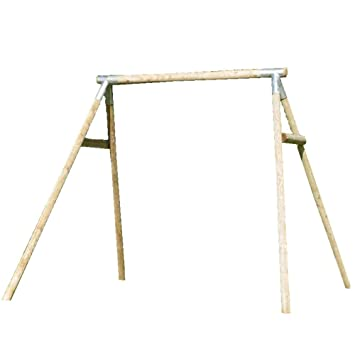 tp double round wood swing frame - Wooden Swing Frame