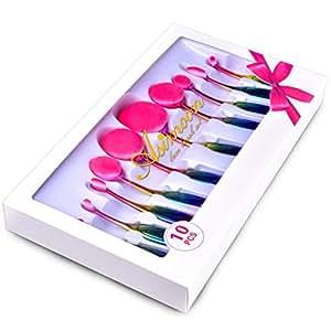 Amazon.com: Oval Makeup Brush Set, 10pcs Oval Brushes Set