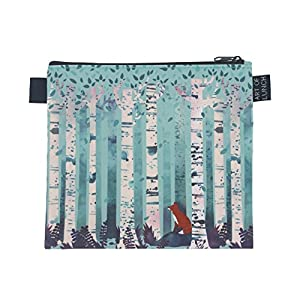 Art of Lunch Designer Lunch Baggies for Men & Women, Boys & Girls, Fashionable, Reusable, Snack & Sandwich Bags w Zipper - Design by Michelle Li Bothe (Germany) - Birches