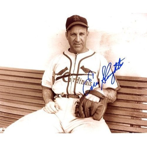 Enos Slaughter (dec. Hall of Famer) Autographed/ Original Signed 8x10 Photo as St. Louis Cardinal