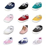 HLM Baby Basketball Shoes For Infant Newborn Girl Girls Boy Boys Kids Babies Toddlers Dress Tennis Walking Running Size 4 5 Black White Pink Shoes Sneakers( 4.33'- 0-6 Months 4.Gray Size 1 )