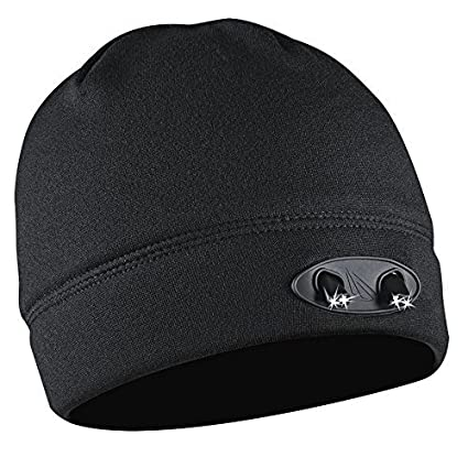 a4f4ea6327f Panther Vision CUBWB-4553 Headlamp 4 LED Warm Beanie Cap - Hands-Free for