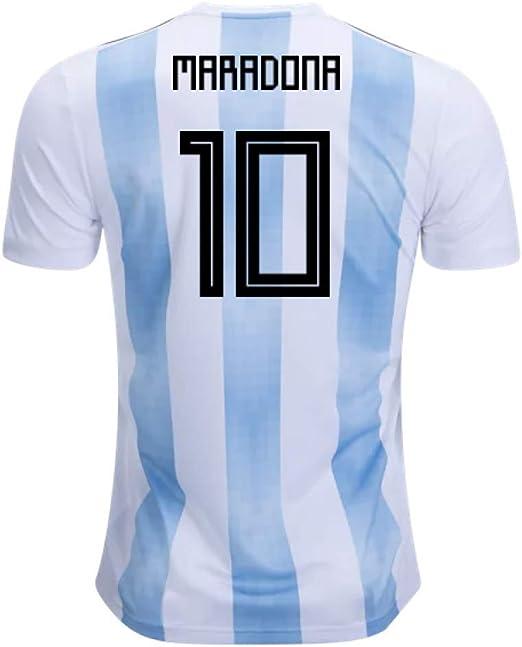 Hommage Au Grand Joueur De Football Maradona # 10 Argentine Maillot De Football /à Domicile T-Shirt Dentra/înement De Football R/étro Classique