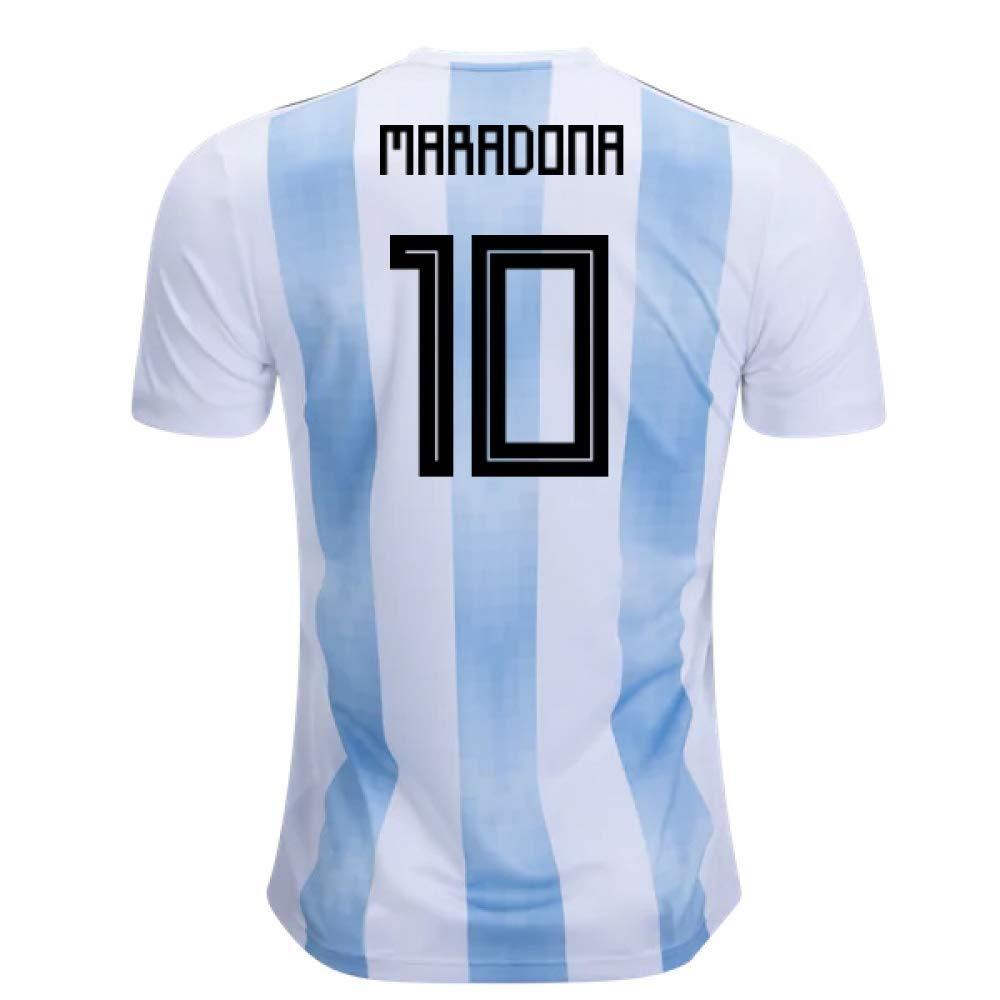 2018-19 Argentina Home Football Soccer T-Shirt Trikot (Diego Maradona 10) - Kids