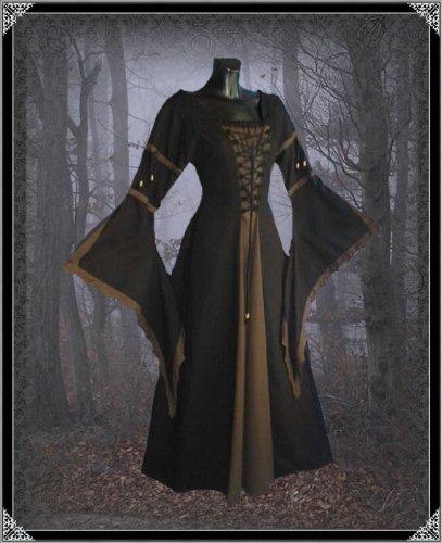 Blau Kleid Vampire Gothic Inter Kelsi Langes Moden Schwarz Damen 1RXR68q