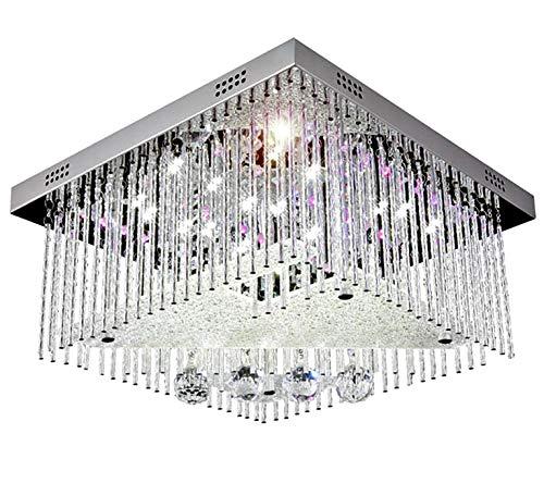 Cambio de color LED cristal lámpara colgante de techo ...