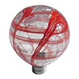 Allsop Home and Garden Firefly Red Globe Hand Blown Glass Top with Garden Stake, 1-Count