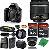 Great Value Bundle for D3300 DSLR – 18-55mm AF-P + 2PCS 16GB Memory + Wide Angle + Telephoto Lens + Case
