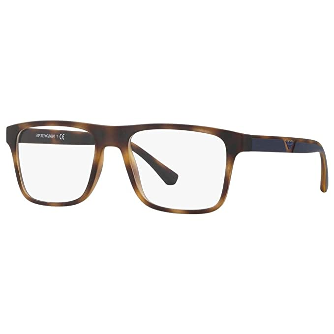 Emporio Armani 0EA4115, Gafas de Sol para Hombre, Matte Havana, 54
