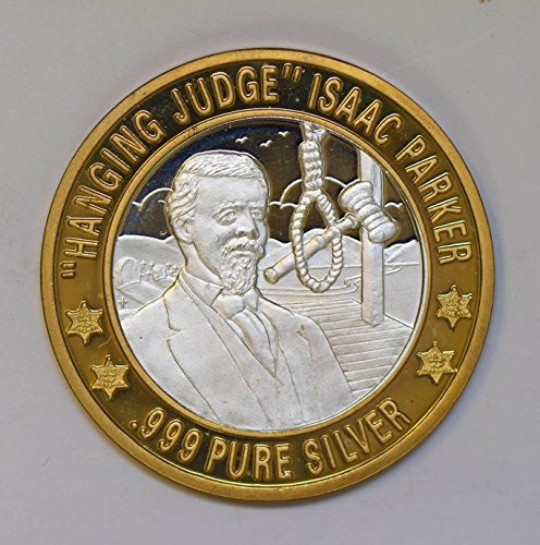 IE BU0348 US casino chip token hanging judge isaac parker silver DE PO-01