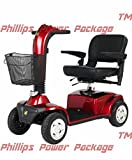 Golden Technologies - Companion - Full Sized Scooter - 4-Wheel - Red - PHILLIPS POWER PACKAGE TM - TO $500 VALUE