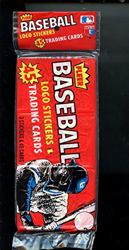 1982 Fleer Baseball Card Grocery Rack 3 Wax Pack Case Box Cal Ripken Jr. Rookie Unopened Wax Pack