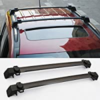 FMtoppeak ONE SET of 2pcs Roof Rails Cross Bar Luggage Rack Crossbar FOR 2011-2015 JEEP Compass