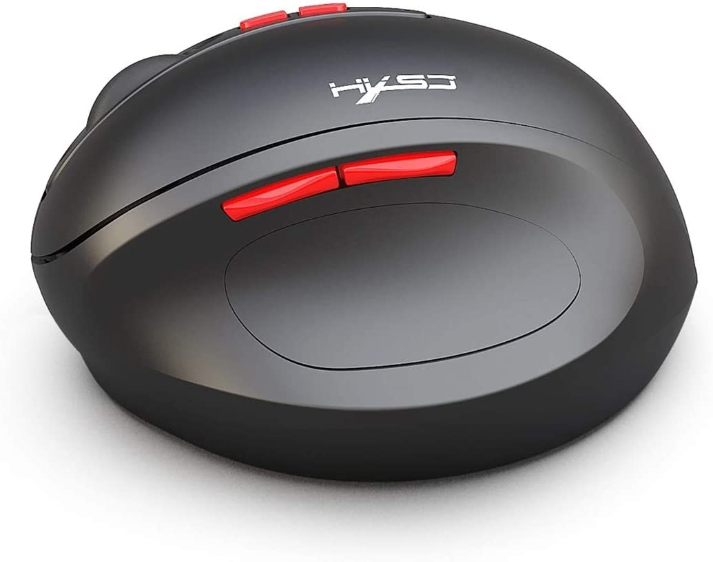 DDETAO T31 2.4GHz 2400DPI Three-Speed Adjustable 7-Keys Rechargeable Vertical Wireless Optical Mouse Mice