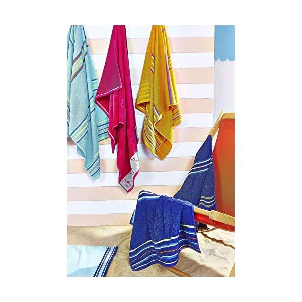 Catherine Lansfield Arcobaleno Coppia Asciugamani Spiaggia–Rosa 4 spesavip