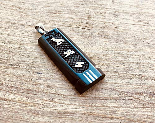 (Egyptian Personalized Ebony Wide Sterling Silver Cartouche Charm In Hieroglyphics or Arabic Or English - Made By AYALZ - Up to (7 Characters))