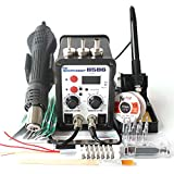 8586 AC 110V 700W 2 in 1 SMD Rework Soldering Station Hot Air Gun Solder Iron With Free Gifts For Welding Repair