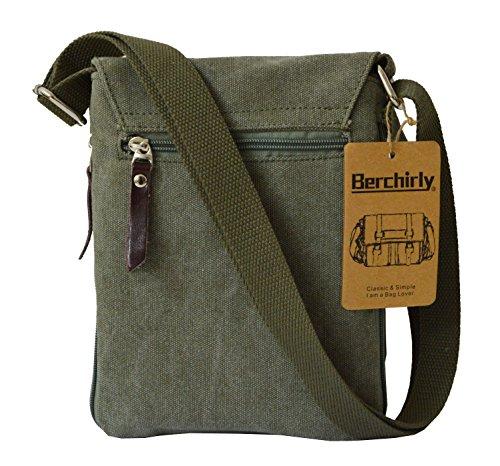 Berchirly - Bolso al hombro para hombre verde oliva small verde oliva