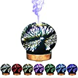 OOFAY 3D Glass Humidifier Aroma LED Night Light