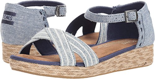 TOMS Youth Harper Novelty Textile Wedge, Size: 3 M US Little