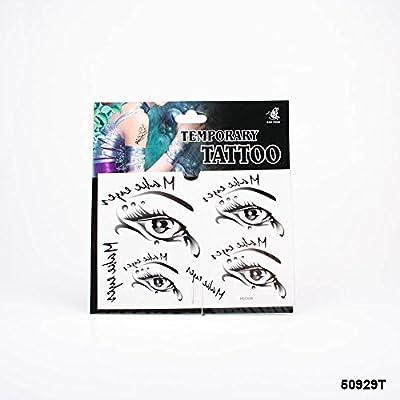 Tatuajes Ojos negra con lágrima gota y texto Make Eyes: Amazon.es ...