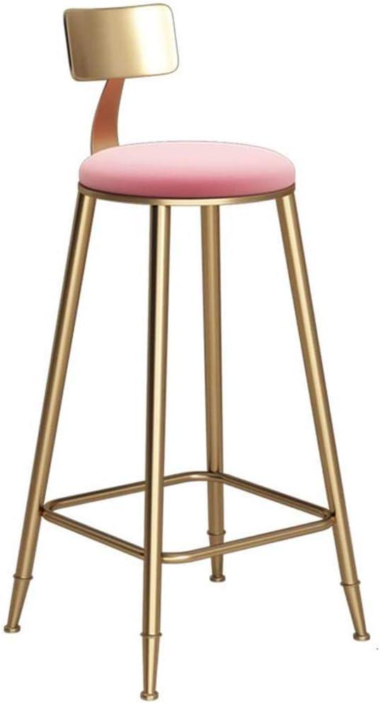 Colore : Pink Stools PH ZTH Sgabello da Bar Iron Art Bar Sgabelli da Banco Vintage in Oro Sedia da Cucina per Bar Sedia da Pranzo Adatto per Famiglia E per Lavoro 46 /× 46 /× 68CM A+