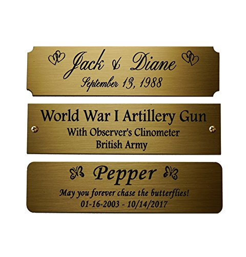 Size Personalized Engraved Brushed adhesive