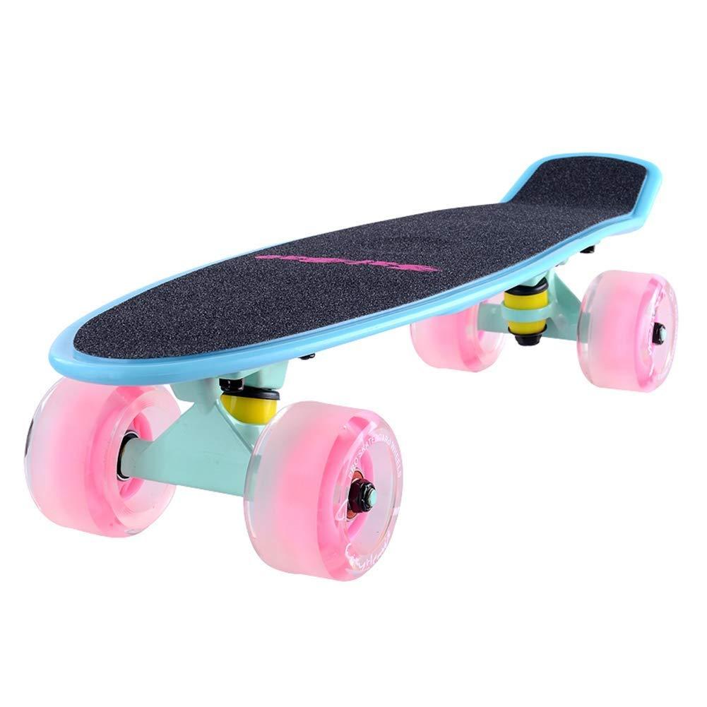 スクーターを蹴る子供たち 子供用スクーター、小型魚用スクーター、四輪旅行、蓄光スクーター (色 : E) E