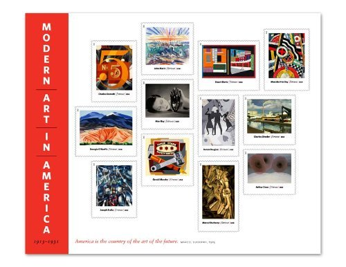 Modern Art in America Complete Sheet of 12 x Forever Stamps Scott 4748 - 12 Stamp Mint Sheet