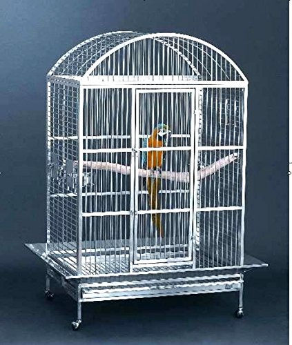 Large 304 Stainless Steel Bird Parrot Macaw Cage Dometop ...