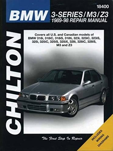 bmw 3 series m3 z3 1989 1998 covers all u s and canadian rh amazon com 1987 BMW Owners Manual bmw 318i owners manual