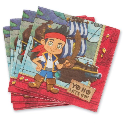 Disney Jake & the Neverland Pirates Lunch Napkins - 16 per - Lunch Napkins Pirate