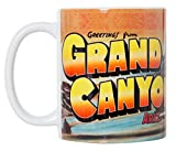 Greetings from Grand Canyon National Park - Vintage Style 11 oz Art Ceramic Coffee Mug 11oz
