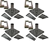 Titan Building Products 4x4 Deck Porch Post Anchor Kit Hardware & Skirt 4-pack