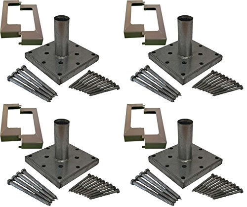 Porch Post Base (Titan Building Products 4x4 Deck Porch Post Anchor Kit Hardware & Skirt 4-pack)