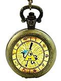Gravity Falls Wheel Logo Bronze Finish Pocket Watch