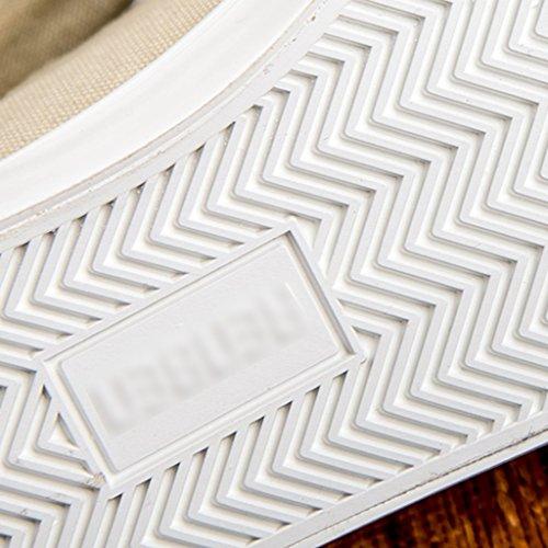 uomo Scarpe tendenza coreano selvaggia YaNanHome scarpe Bianca 43 basse di da da Size casual Espadrillas Color scarpe tela Beige scarpe estiva di uomo Scarpe stile fwvE4vInq