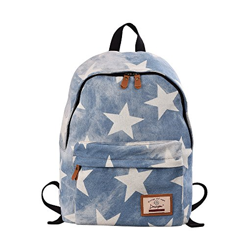 Epokris Teen Girls School Bookbag Rucksack Casual Daypack Floral Backpack 320 white (Floral Star)