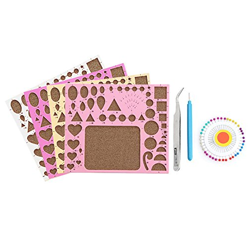 Kitchen Set Quilling: LAYs 1 Set DIY Paper Quilling Tools Template Mould Board