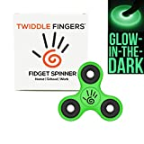 Fidget Spinner by Twiddle Fingers with 2 to 5 Minute Spin Times, Ceramic Bearing Si3N4 EDC Focus Stress Reducer Toy Perfect for ADD ADHD Anxiety and Autism Adult Kids (Glow in the Dark - 1 Pack)