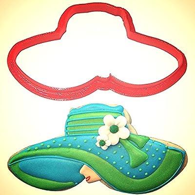 Wide Brimmed Kentucky Derby Hat Cookie Cutter 4.75 in