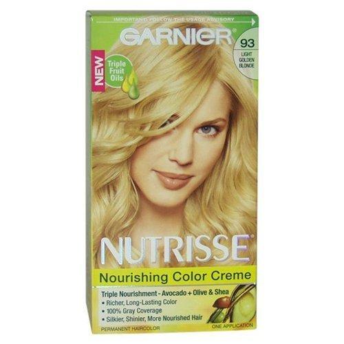 Nutrisse Crème Nourrissante Couleur 93 Golden Light Blonde par Garnier - 1 Application Couleur des cheveux